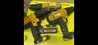 Dewalt 18V Drills X 3 Plus 1 Battery All Used But Working No Charger