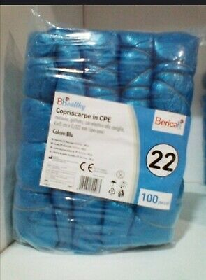 Copriscarpe Monouso Blu In Cpe 100Pz