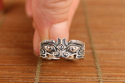 """Chinese 925 silver standard silver ring size US 9"""" UK s"""