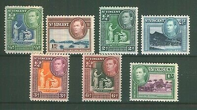 Commonwealth Stamps ST VINCENT KINGS On Stock Card Selection Mint.
