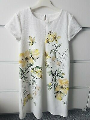 Girls Next Lemon Flower Insect A Line Dress Age 11 Years