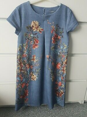 Girls Next Blue Floral A Line Dress Age 11 Years
