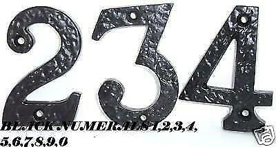"3"" / 75mm BLACK ANTIQUE CAST IRON DOOR NUMBERS 1,2,3,4,5,6,7,8,9,0"