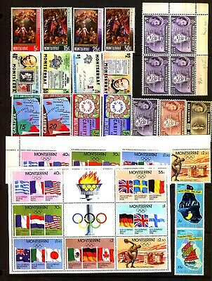 MONTSERRAT MNH Unmounted Mint  Selection of Stamps Sets Singles M/S
