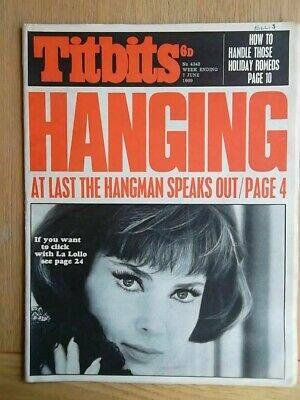 Titbits Magazine June 1969 - HANGING Harry Allen Hangman - Gina Lollobrigida