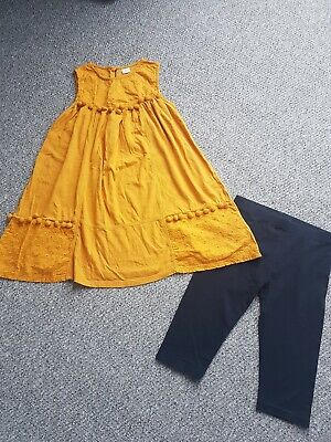 Girls Next Ochre Tunic Dress Cropped Leggings Outfit Set Age 9 Years