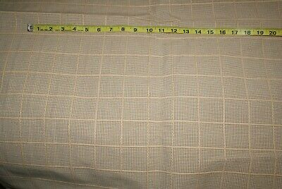 Tan & White Check Grid Fabric Upholstery 3 Yards x 54 Inches fast shipping