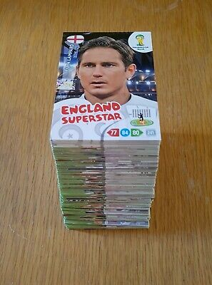 Panini World Cup 2014 Adrenalyn XL - 192 Cards All Different Excellent Condition