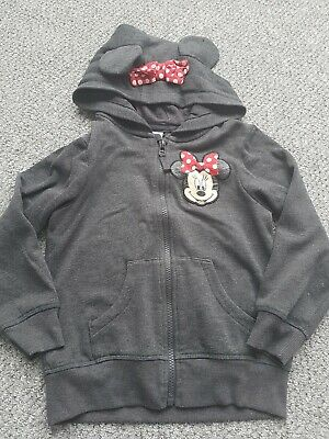 Girls Next Disney Minnie Mouse Hoody Age 5-6 Years