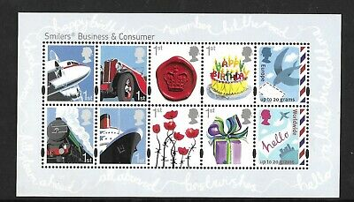 2010 GB. - Business and Consumer Smilers Mini Sheet - MNH.