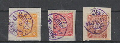 Japanese P.O. in China  IJPO postmarks, 3 stamps