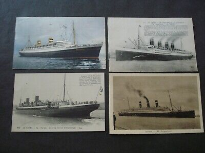 Lot 16 Cp Bateaux Ship Cunard Line Red Star Line Postmark Marcophilie Marcophily