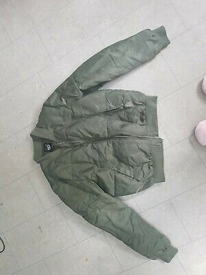 New Look 915 Girls Silky khaki Bomber Jacket age 14-15 VERY GOOD CONDITION
