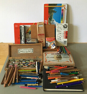 Joblot Artists Vintage & New Drawing, Sketching, Pastels, Charcoal, Pencils.