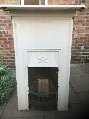 Cast Iron bedroom Fireplace victorian art deco original