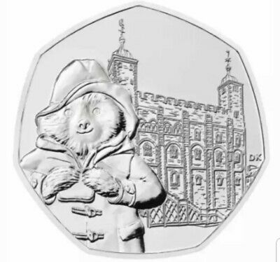 Paddington Bear At The Tower Of London 50p Coin Uncirculated From Minted Bag.