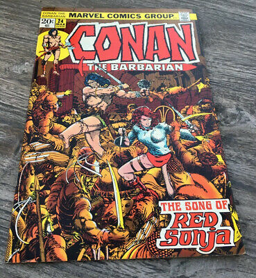 Conan The Barbarian #24 - 1st full appearance of RED SONJA - NM - Key book
