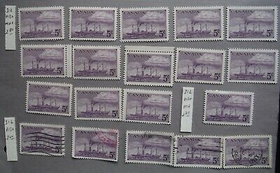 Canada stamp lot scott #312 mnh mh & used Mint never hinged mint hinged