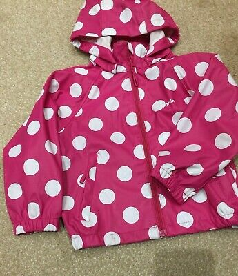 Mountain Life Pink & White Spotted Raincoat Age 2-3 Yrs Detachable Hood