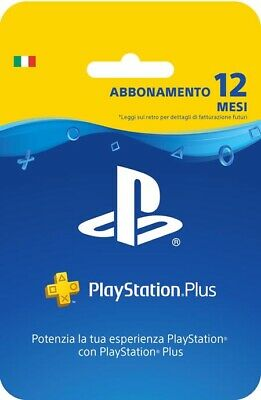 Sony Playstation Plus Carta d'Abbonamento 12 Mesi
