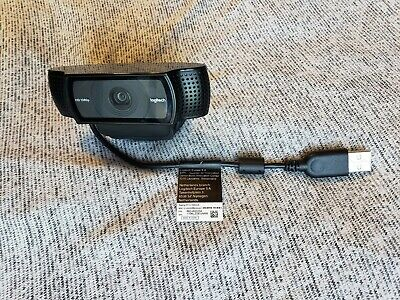 R Webcam Fast Logitech HD Pro Webcam C920 Widescreen Video Calling and 1080p