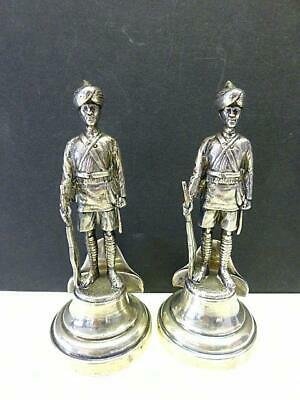 2 Figure Military Men Place Card Holder Goldsmith & Silversmith Sterling Silver