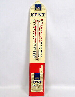 Vintage 1960s Kent Cigarettes 3D Pack Thermometer Advertising Sign Embosograph