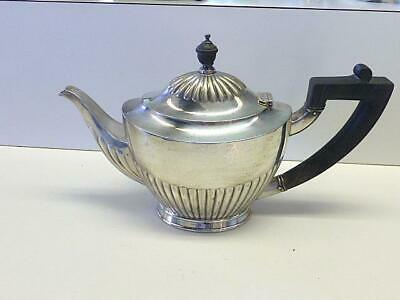 Vintage Tiffany & Co Silver Plate 1 Pint Teapot Classic Shape Wood Handle