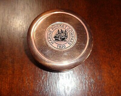 Vintage Style Marine Pocket Compass With Case