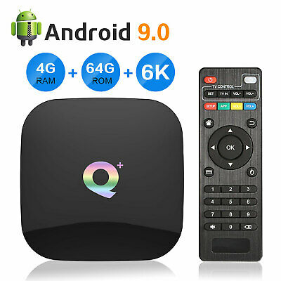 Q+ Plus Android 9.0 Smart TV Box 16GB Media Streamers Quad Core 6K Player