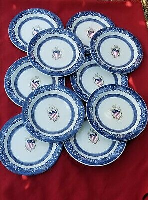 set of 10 Vintage Robert Steffy Dining Plates  10 1/4""