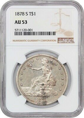 1878-S Trade$ NGC AU53 - Great Type Coin - US Trade Dollar - Great Type Coin
