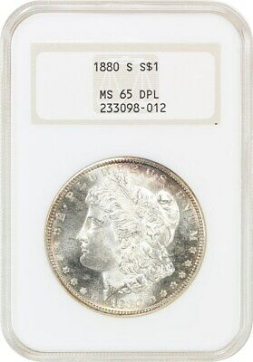 1880-S $1 NGC MS65 DMPL (OH) Old NGC Holder - Morgan Silver Dollar