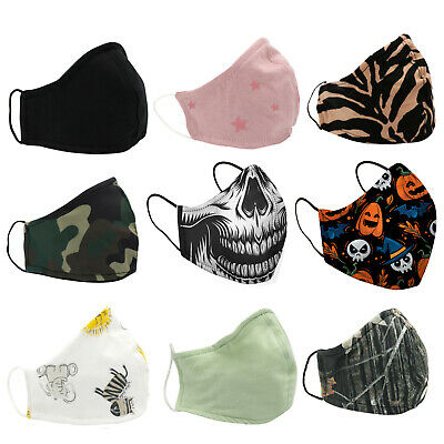 2Pcs Washable Face Mask Nose Wire Breathable Shield Kids Adult Mouth Cover