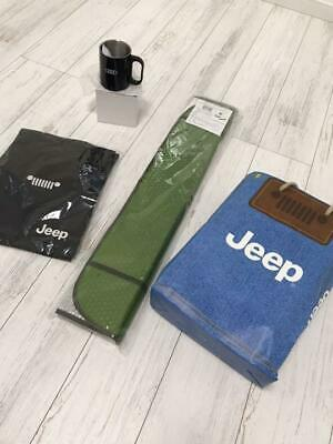 JEEP Sunshade, Tote Bag & Stainless Mug Set Limited from Japan Free Shipping