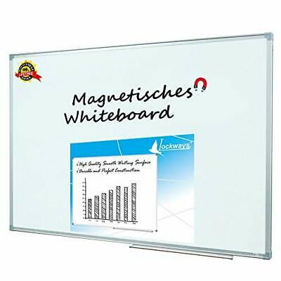 Lockways Magnetic Dry Erase Board - Magnetic (Silver frame 36 x 24 Inch)