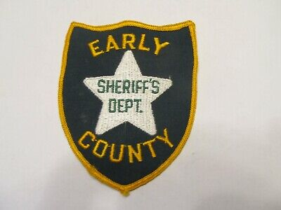 Georgia Early Co Sheriff Patch Old Cheese Cloth