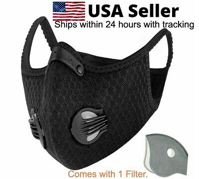 Cycling Mask Activated Carbon Face with filter Cycling Washable Reusable Filter