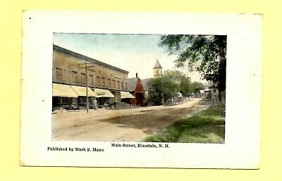 Main Street Hinsdale New Hampshire early 1900's Postcard