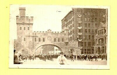Brass Band 4th of July Parade Chicago Illinois 1910 Postcard