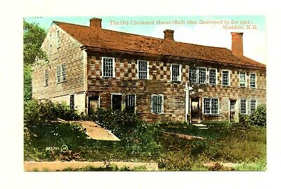 The Old Checkered House Built 1800 Hinsdale New Hampshire 1910's Postcard