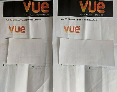 2 VUE Cinema Tickets 2D Outside London (will expire on 24 July 2020)