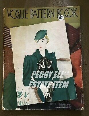 Oct-Nov 1933 Vogue Pattern Book Bi-Monthly Printing By Conde Nast Publications