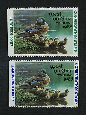 CKStamps: US State Duck Stamps Collection West Virginia Mint NH Booklet Single