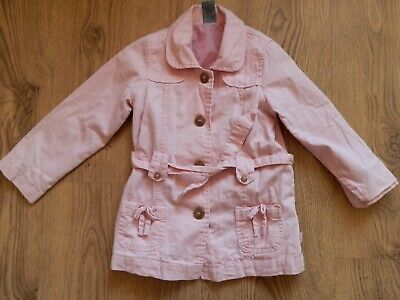 Pumpkin Patch Pink Summer Coat Age 5 Years 115cm VGC