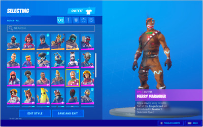 Fortnite Account Renegade Raider with Pink Ghoul Troop Read Description