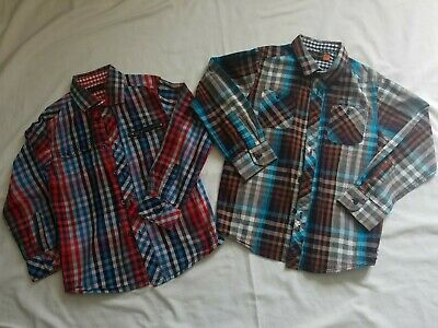 Ben Sherman Boys Check Shirts X 2. Age 6-7 Years Cotton Long Sleeved