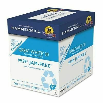 Hammermill HAM67780 Great White Recycled Copy Paper - 10 Ream Case