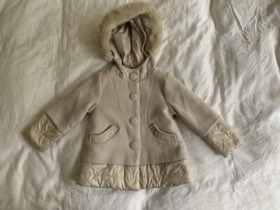 MAYORAL Girl's Cream Beige Coat. Age 4 Years. Very Good Condition.