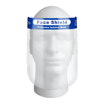 Safety Full Face Shield Clear Protector Anti-Fog